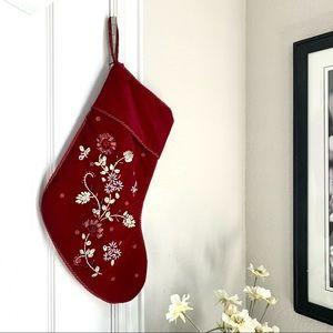 Embellished Short Velvet Christmas Stocking